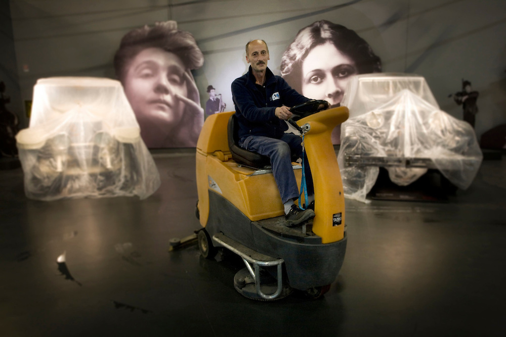 Mauto, Museo dell'auto di Torino (The Car Museum of Turin). Reportage about the renovation of the building of the museum itself. 2011