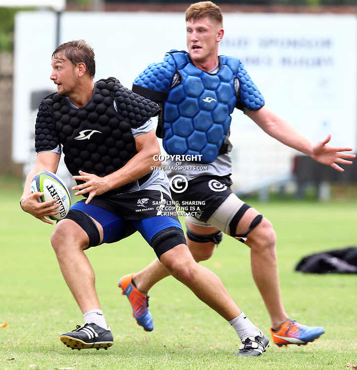 DURBAN, SOUTH AFRICA - JANUARY 13: Etienne Oosthuizen during the Cell C Sharks training session at Growthpoint Kings Park on January 13, 2017 in Durban, South Africa. (Photo by Steve Haag/Gallo Images)