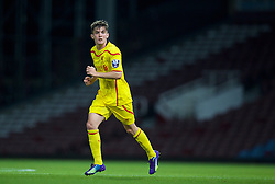 UPTON PARK, ENGLAND - Friday, September 12, 2014: Liverpool's Daniel Trickett-Smith in action against West Ham United during the Under 21 FA Premier League match at Upton Park. (Pic by David Rawcliffe/Propaganda)