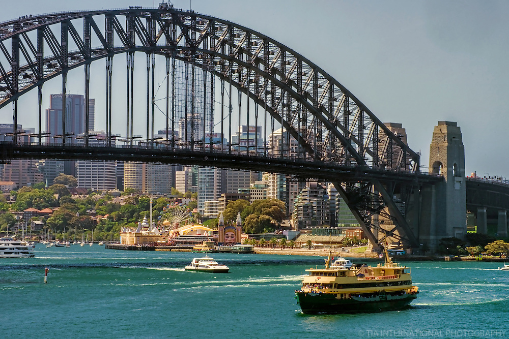 Harbour Bridge & North Sydney Skyline, Port Jackson
