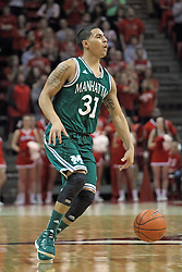 20 November 2013:  Michael Alvarado during an NCAA Non-Conference mens basketball game between theJaspers of Manhattan and the Illinois State Redbirds in Redbird Arena, Normal IL