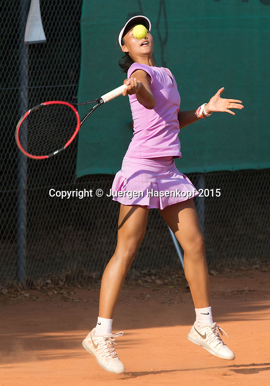 Quinwen Zhen (CHN), Tennis Europe-M&uuml;nchen Junior Open GS14<br /> <br /> Tennis - Audi GW plus Zentrum M&uuml;nchen Junior Open 2015 - ITF Junior Tour -  SC Eching - Eching - Bayern - Germany  - 12 August 2015. <br /> &copy; Juergen Hasenkopf