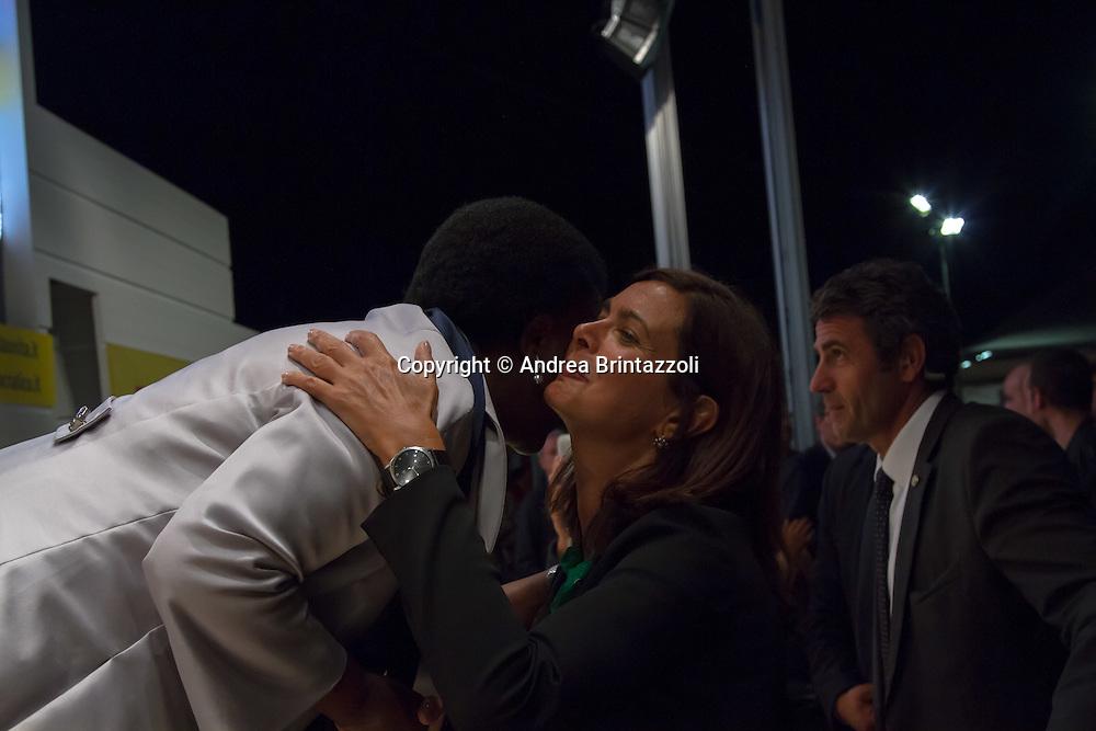 Bologna 05 Settembre 2014 - Festa dell'Unità - Dibattito: Cittadini e Istituzioni protagonisti del cambiamento. Nella foto Cecile Kyenge