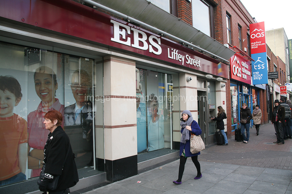 EBS Building Society branch on Liffey Street in Dublin Ireland