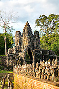 Devas statues, Bridge to Ankor Thom, Angkor, Siem Reap, Cambodia,