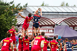 Joe Joyce of Bristol Rugby wins a lineout - Rogan/JMP - 05/08/2017 - RUGBY UNION - Cleve RFC - Bristol, England - Bristol Rugby v Harlequins - Pre-Season Friendly.