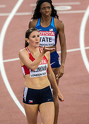 06-08-2017 IAAF World Championships Athletics day 4, London<br /> Cassandra Tate USA, Zuzana Hejnova CZE - 400 m hurdle