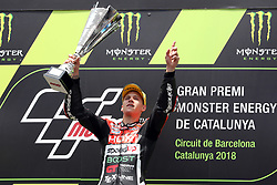 June 17, 2018 - Montmelo, Catalunya, Spain - Fabio QUARTARARO of France and HDR Speed Up Racing celebrates victory during Gran Premi Monster Energy de Catalunya (Grand Prix of Catalunya), Moto2 race, on June 17, 2018 at the Catalunya racetrack in Montmelo, near Barcelona, Spain (Credit Image: © Manuel Blondeau via ZUMA Wire)