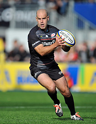 Charlie Hodgson of Saracens in possession - Photo mandatory by-line: Patrick Khachfe/JMP - Mobile: 07966 386802 11/10/2014 - SPORT - RUGBY UNION - London - Allianz Park - Saracens v Gloucester Rugby - Aviva Premiership