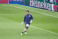 Wolfsburg player Max Grün during the practice session at Santiago Bernabeu the day before Champions League match between Real Madrid and Wolfsburgo. April 11, 2016. (ALTERPHOTOS/Borja B.Hojas)