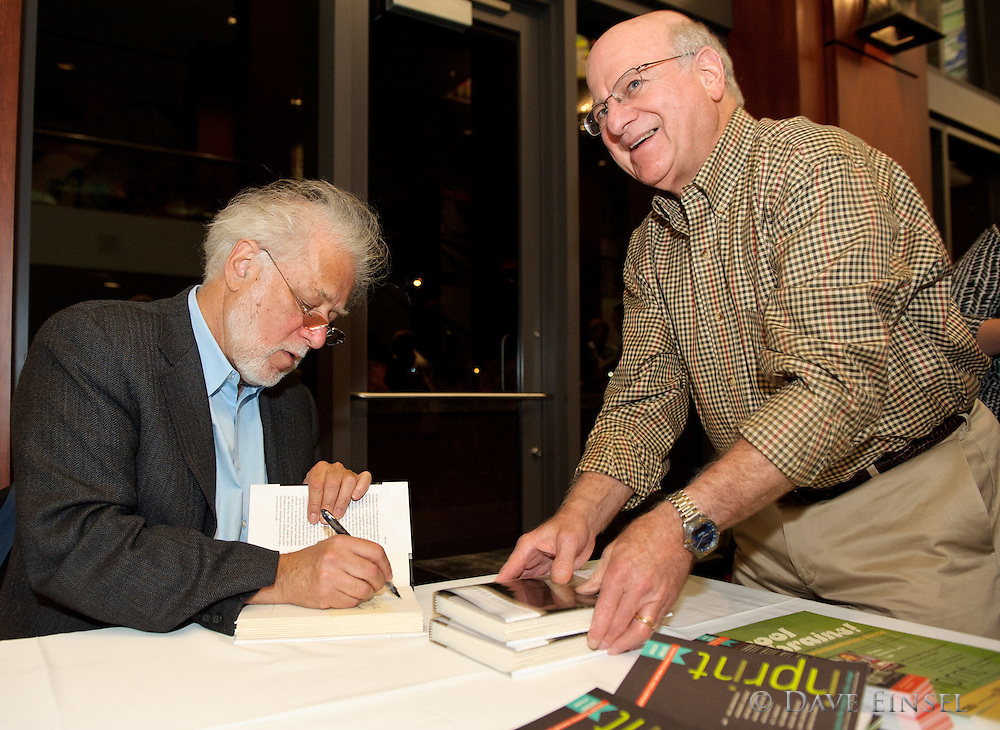 """Michael Ondaatje reads from his latest novel, """"The Cat's Table"""", during a reading sponsored by Inprint at the Moore Opera House on the University of Houston campus, October 10, 2011, in Houston."""