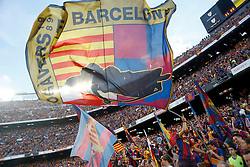 30.05.2015, Camp Nou, Barcelona, ESP, Copa del Rey, Athletic Club Bilbao vs FC Barcelona, Finale, im Bild FC Barcelona's supporters // during the final match of spanish king's cup between Athletic Club Bilbao and Barcelona FC at Camp Nou in Barcelona, Spain on 2015/05/30. EXPA Pictures © 2015, PhotoCredit: EXPA/ Alterphotos/ Acero<br /> <br /> *****ATTENTION - OUT of ESP, SUI*****