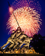 4th of July fireworks over the Marine Corps Memorial