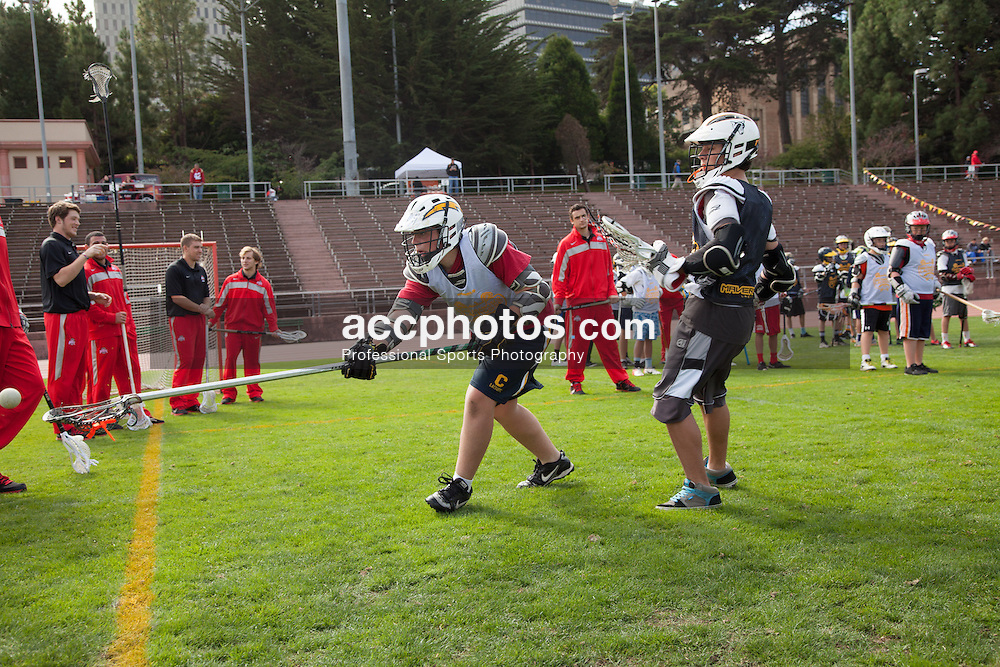 2012 October 21: The San Francisco Lacrosse classic featuring Lehigh Mountain Hawks and the Ohio State Buckeyes at Kezar Stadium in San Francisco, CA.