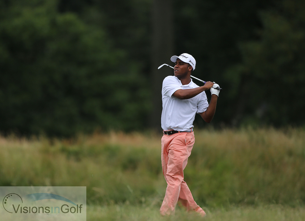 Harold Varner III<br /> on the first day at the US Open Championship, Merion East, PA. USA 2013 <br /> Picture Credit:  Mark Newcombe / visionsingolf.com