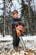 Logger Gary Martin in Shrewsbury, Vermont.