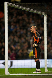 03.01.2012, Etihad Stadion, Manchester, ENG, PL, Manchester City vs FC Liverpool, 19. Spieltag, im Bild Liverpool's goalkeeper Jose Reina looks dejected after Manchester City's second goal during the football match of English premier league, 19th round, between Manchester City and FC Liverpool at Etihad Stadium, Manchester, United Kingdom on 2012/01/03. EXPA Pictures © 2012, PhotoCredit: EXPA/ Propagandaphoto/ David Rawcliff..***** ATTENTION - OUT OF ENG, GBR, UK *****