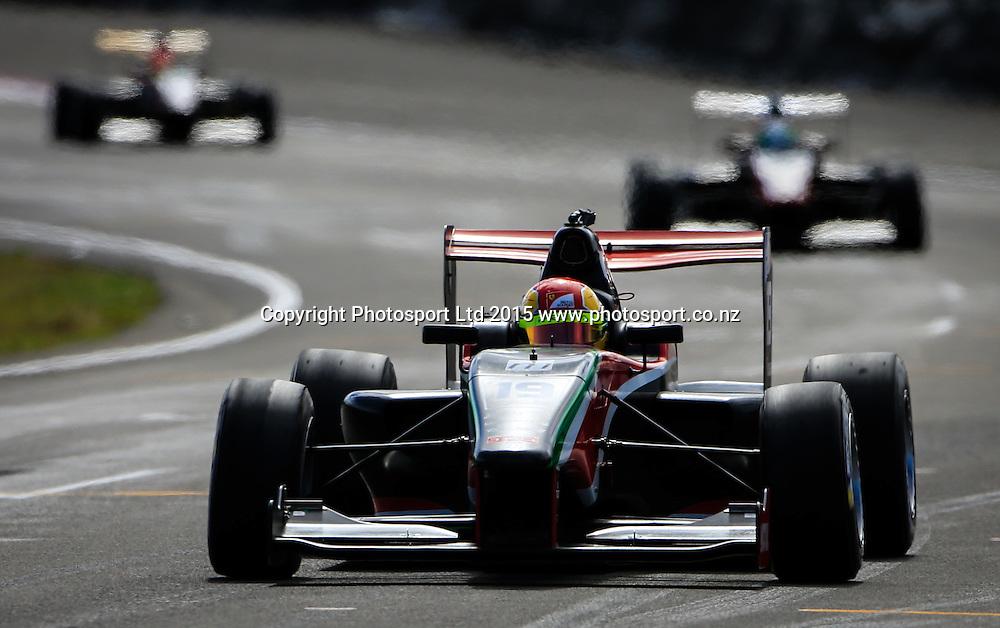Brandon Maisano in action. Toyota Racing Series, Manfeild Motorsport Park, Feidling, New Zealand. Sunday, 15 February, 2015. Photo: John Cowpland / www.photosport.co.nz