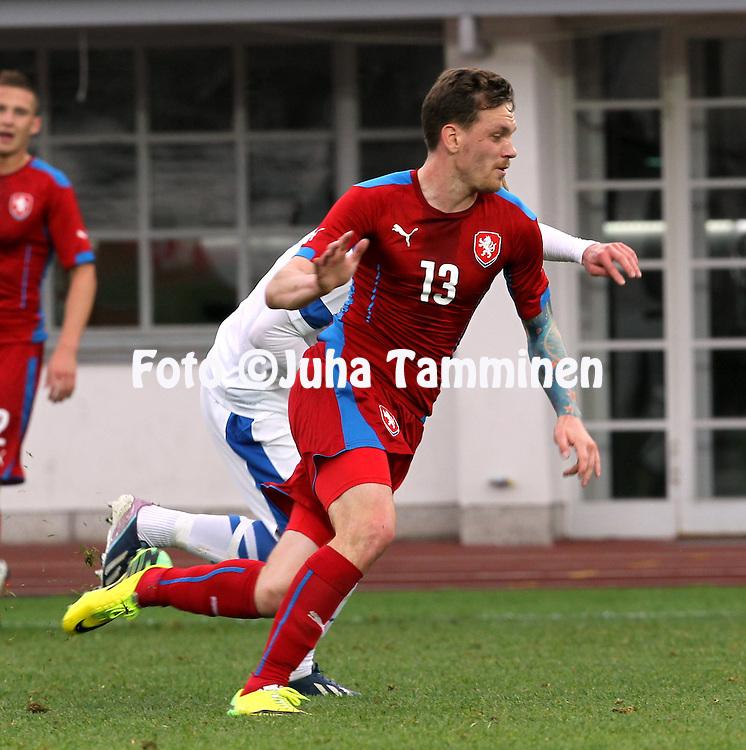 21.5.2014, Olympic Stadium, Helsinki, Finland.<br /> Friendly International match Finland v Czech Republic.<br /> Ondrej Vanek - Czech Rep.