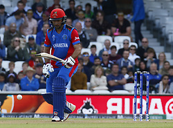 May 27, 2019 - London, England, United Kingdom - Rahmat Shah of Afghanistan.during ICC Cricket World Cup - Warm - Up between England and Afghanistan at the Oval Stadium , London,  on 27 May 2019. (Credit Image: © Action Foto Sport/NurPhoto via ZUMA Press)
