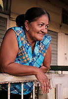 BARACOA, CUBA - CIRCA JANUARY 2020: Portrait of woman on the streets of Baracoa