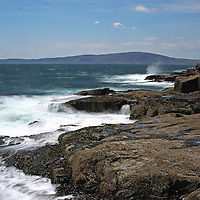 The Schoodic Peninsula is the only part of Acadia National Park that is on the mainland. It provides great coastal scenery with dramatic views but without the large crowds of Mount Desert Island. This is a wave crashing into Schoodic Point and splashing across the seascape. <br /> <br /> This Maine coastal photo is available as museum quality photography prints, canvas prints, acrylic prints or metal prints. Fine art prints may be framed and matted to the individual liking and decorating needs:<br /> <br /> http://juergen-roth.pixels.com/featured/schoodic-peninsula-juergen-roth.html<br /> <br /> All photographs are available for digital and print image licensing at www.RothGalleries.com. Please contact me direct with any questions or request.<br /> <br /> Good light and happy photo making!<br /> <br /> My best,<br /> <br /> Juergen<br /> Prints: http://www.rothgalleries.com<br /> Photo Blog: http://whereintheworldisjuergen.blogspot.com<br /> Twitter: @NatureFineArt<br /> Instagram: https://www.instagram.com/rothgalleries<br /> Facebook: https://www.facebook.com/naturefineart