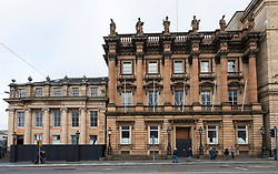 View of former Bank of Scotland buildings on St Andrew Square in Edinburgh New Town, Scotland, UK.