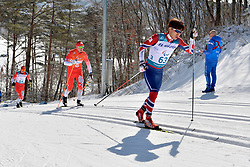 CHOI Bogue KOR B3 Guide: KIM Hyunwoo, KUBICA Lukasz POL B3 Guide: SUCHWALKO Wojciech competing in the ParaSkiDeFond, Para Nordic 10km during the PyeongChang2018 Winter Paralympic Games, South Korea.