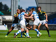 South Africa scrum-half Marco Jansen Van Vuren runs at the Argentina defence during the World Rugby U20 Championship 3rd Place play-off  match Argentina U20 -V- South Africa U20 at The AJ Bell Stadium, Salford, Greater Manchester, England on Saturday, June 25, 2016.(Steve Flynn/Image of Sport)