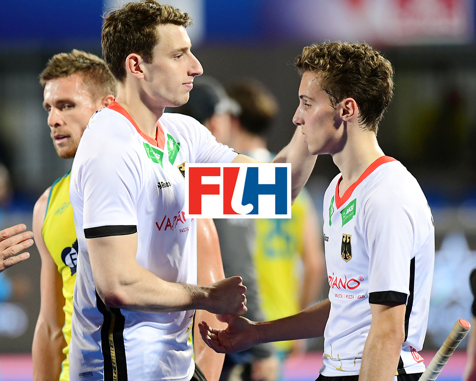 Odisha Men's Hockey World League Final Bhubaneswar 2017<br /> Match id:20<br /> Australia v Germany<br /> Foto: Australia wins the Semi Final against Germany.<br /> keeper Mark Appel (Ger) and Johannes Grosse (Ger) <br /> COPYRIGHT WORLDSPORTPICS FRANK UIJLENBROEK