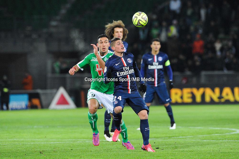 Marco VERRATTI - 25.01.2015 - Saint Etienne / PSG - 22eme journee de Ligue1<br /> Photo : Jean Paul Thomas / Icon Sport