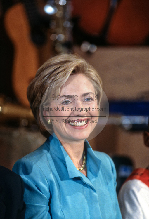 US First lady Hillary Clinton during an event in the east room of the White House September 17, 1998 in Washington, DC.