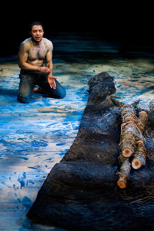 The Royal Exchange Theatre Production of .The Tempest by William Shakespeare..ALONSO: Russell Dixon.SEBASTIAN: Jonathan Keeble.PROSPERO: Pete Postlethwaite.ANTONIO: Eamon Boland.FERDINAND: Oliver Kieran-Jones.GONZALO: Ewan Hooper.ADRIAN: Marc Parry.FRANCISCO: Callum Arnott.CALIBAN: Simon Trinder.TRINCULO: Toby Sedgwick.STEPHANO: Trevor Cooper.BOATSWAIN:Radoslaw Kaim.MIRANDA: Samantha Robinson.ARIEL: Steven Robertson..DIRECTOR: Greg Hersov.DESIGNER: Ashley Martin-Davis.LIGHTING: Peter Mumford.SOUND:Peter Rice.MUSIC: Arun Gosh.MOVEMENT: Toby Sedgwick..COMPANY MANAGER: Nick Chesterfield.STAGE MANAGER: Julia Wade.DEPUTY STAGE MANAGER: Fiona Mott.ASSISTANT STAGE MANAGER: Beth Dibble..Preview: 23rd May 07.Press Night: Tues 29th May 07.Closes: 7th July 07