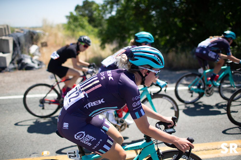 Anna Christian (GBR) of Trek-Drops Cycling Team rides mid-pack during Stage 1 of the Amgen Tour of California - a 124 km road race, starting and finishing in Elk Grove on May 17, 2018, in California, United States. (Photo by Balint Hamvas/Velofocus.com)