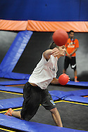 Rob McGarry of Philadelphia, Pennsylvania throws the ball in the semi finals during the Ultimate Dodgeball championship Monday June 6, 2016 in Levittown, Pennsylvania. The winner moves on to compete in Las Vegas for the national title. (Photo by William Thomas Cain)