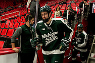 The Great Lakes Invitational rings in the new year with a match up between the host Michigan Tech Huskies and Michigan State University at Little Ceasars Arena in Detroit on Monday January 01, 2018. (Andrew Knapik/MiHockeyNow)