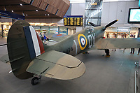Spitfire goes on display at London Bridge station for 75th anniversary of D-Day, London Bridge station, London, UK, 02 June 2019, Photo by Richard Gooldschmidt