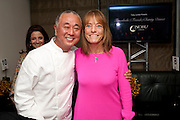 NOBU MATSUHISA; LADY RUTH ROGERS, The Tomodachi ( Friends) Charity Dinner hosted by Chef Nobu Matsuhisa in aid of the Japanese Tsunami Appeal. Nobu Park Lane. London. 4 May 2011. <br /> <br />  , -DO NOT ARCHIVE-© Copyright Photograph by Dafydd Jones. 248 Clapham Rd. London SW9 0PZ. Tel 0207 820 0771. www.dafjones.com.