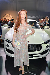 OLIVIA GRANT at the Maserati Levante VIP Launch party held at the Royal Horticultural Halls, Vincent Square, London on 26th May 2016.
