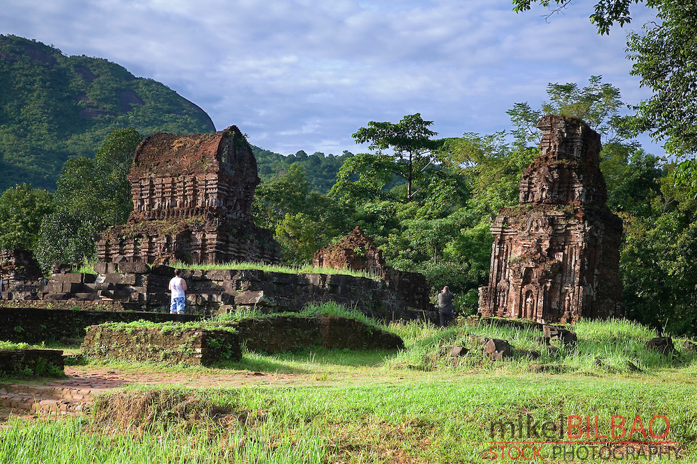 My Son (cluster of abandoned and partially ruined Hindu temples). <br /> Vietnam, Asia.