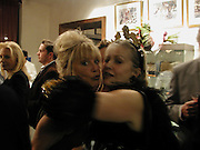 Patti Boyd and Ulla Larson. Nicholas Haslam celebrates the launch of 'Sheer Opulence'. General Trading Company. 3 October 2002. © Copyright Photograph by Dafydd Jones 66 Stockwell Park Rd. London SW9 0DA Tel 020 7733 0108 www.dafjones.com