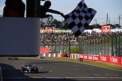 October 8, 2017 - Suzuka, Japan - Motorsports: FIA Formula One World Championship 2017, Grand Prix of Japan, .checkered flag#44 Lewis Hamilton (GBR, Mercedes AMG Petronas Formula One Team) (Credit Image: © Hoch Zwei via ZUMA Wire)