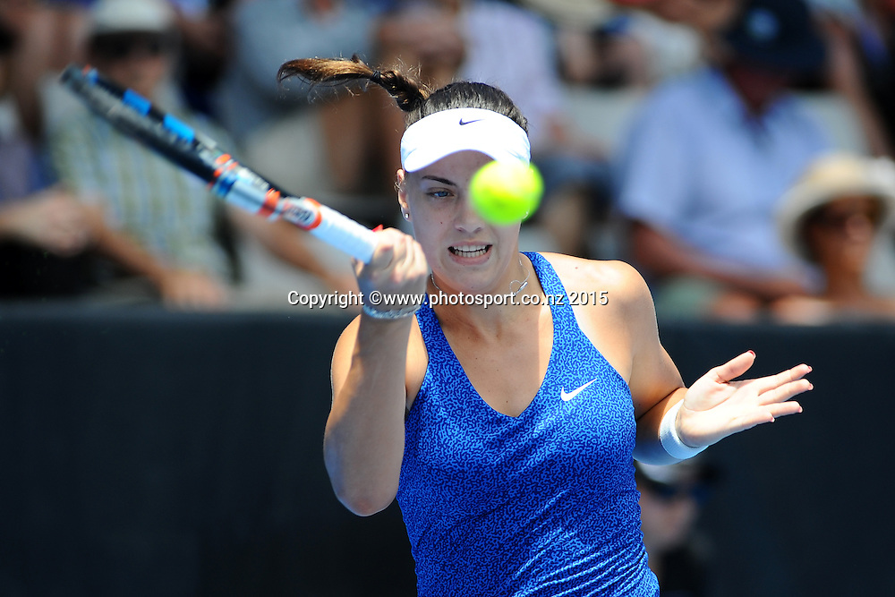 Ana Konjuh from Croatia on Day 3 of the ASB Classic Women's International. ASB Tennis Centre, Auckland, New Zealand. Wednesday 7 January 2015. Copyright photo: Chris Symes/www.photosport.co.nz