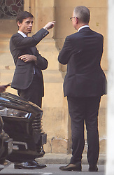 © Licensed to London News Pictures. 17/06/2019. London, UK. Leadership candidates RORY STEWART (left) and MICHAEL GOVE (right) in conversation at the Houses of Parliament in London. Boris Johnson has cemented his position as favourite to become the next Prime Minster after winning a landslide in the first round of the conservative party's leadership race. Photo credit: Ben Cawthra/LNP