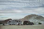 North America, USA,  Nevada, Nelson, Ghost Town, Pax Americana Trailer