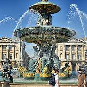 Fountain of River Commerce and Navigation located in  Place de la Concorde, Paris, France