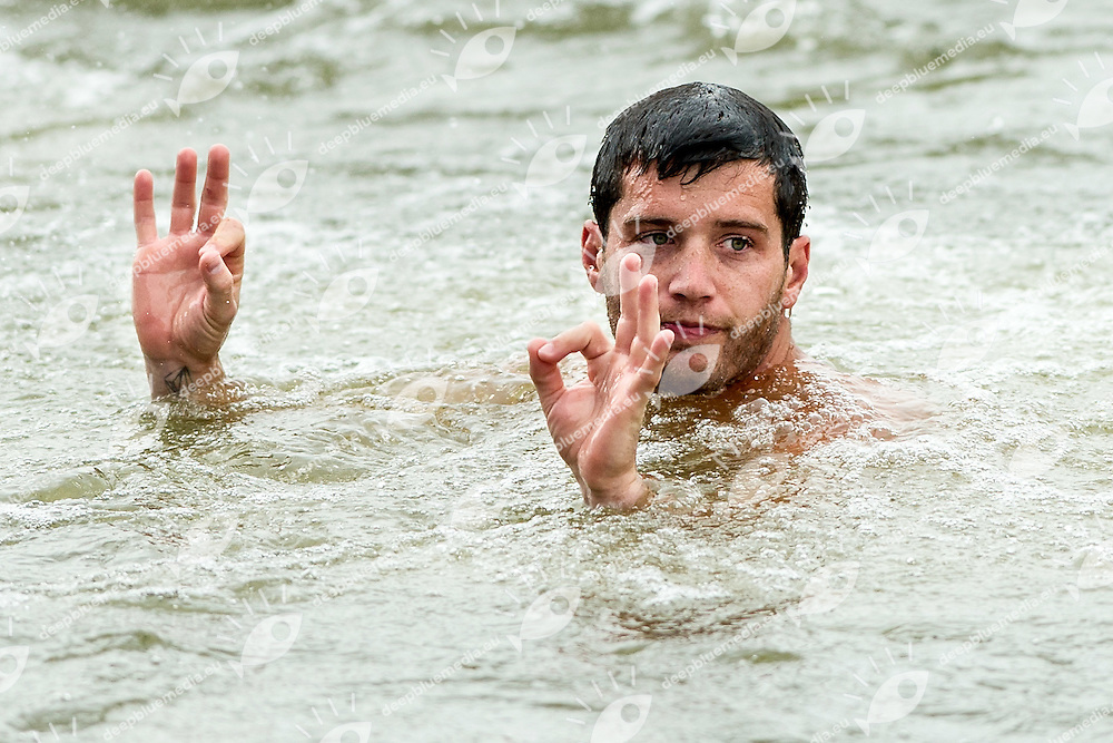 LoBUE Steve (Steven) USA<br /> Men s' Qualification<br /> FINA High Diving World Cup 2014<br /> Kazan Tatartsan Russsia RUS Aug. 8 to 10 2014<br /> Kazanka River  Day01 - Aug.8 <br /> Photo G. Scala/Deepbluemedia