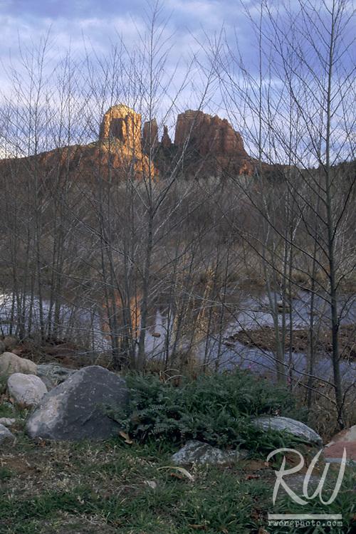 Cathedral Rocks at Sunset, Sedona, Arizona