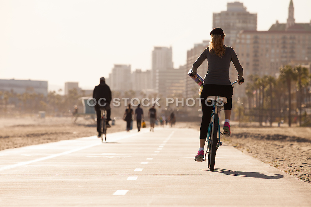 Shoreline Pedestrian Bike Path in Long Beach California