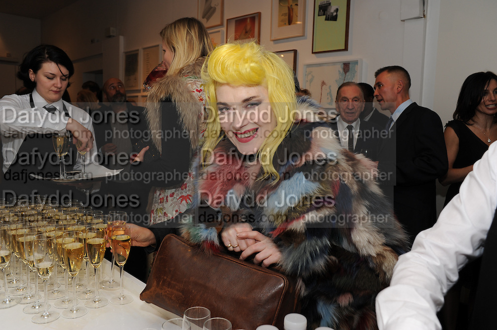 PAM HOGG, Vanity Fair  hosted  UK Premiere and party for Beyond Time. A film about the artist William Turnbull made by his son Alex Turnbull. Narrated by Jude Law. I.C.A. London. 17 November 2011<br /> <br />  , -DO NOT ARCHIVE-© Copyright Photograph by Dafydd Jones. 248 Clapham Rd. London SW9 0PZ. Tel 0207 820 0771. www.dafjones.com.